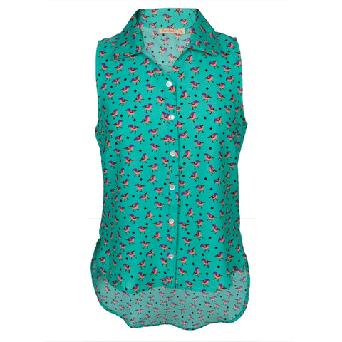 Chickadee All-Over Women's Blouse