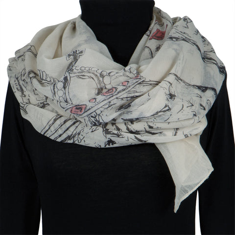 Owl Large Body Sketch All-Over Women's Scarf