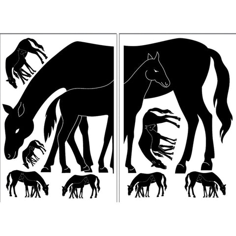 Horses Mare & Foal Wall Decal Set
