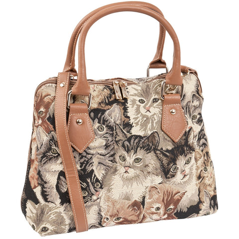 Kittens Everywhere All-Over Convertible Handbag