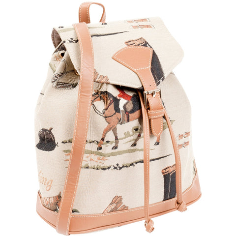 Horse Equestrian Collage All-Over Mini Backpack