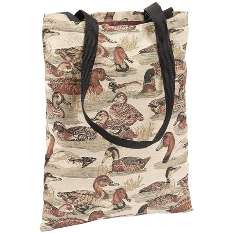 Ducks In Water All-Over Tote Bag