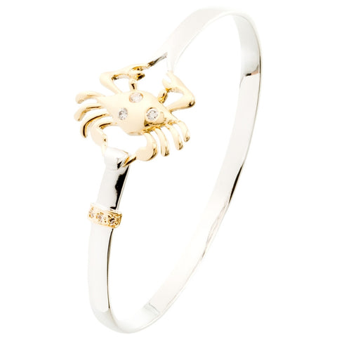 Crab Body Two Tone Bangle Bracelet