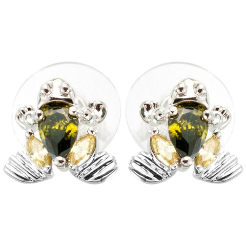 Frog Gem Body Stud Earrings