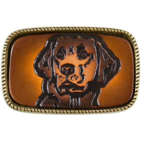 Chocolate Labrador Head Belt Buckle