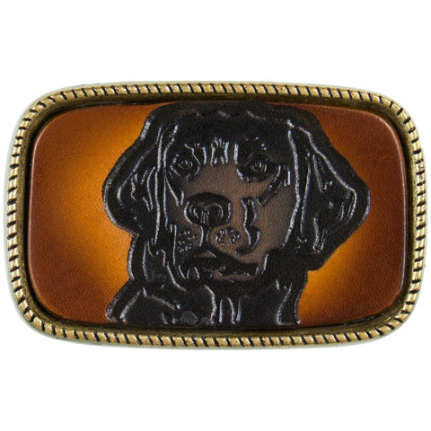 Black Labrador Head Belt Buckle