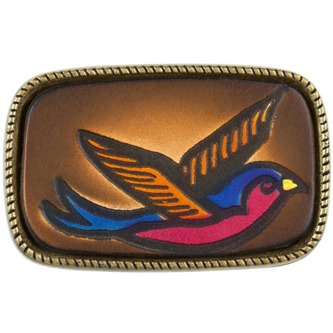 Bluebird Flying Belt Buckle