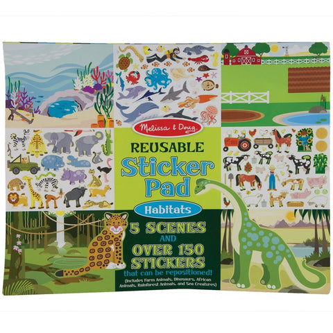 Variety Animal Kingdom Habitats Reusable Sticker Pad