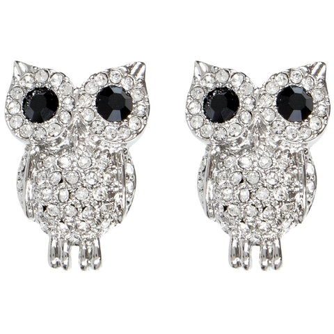 Owl Gemmed Body Earrings