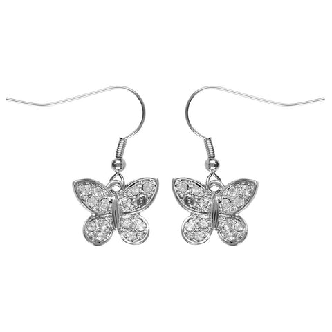 Butterfly Gemmed Dangle Earrings