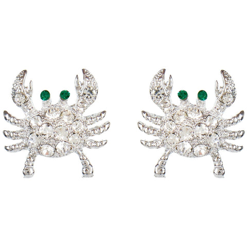 Crab Gemmed Body Earrings