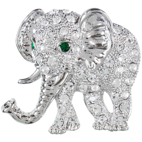 Elephant Gemmed Body Tack Pin