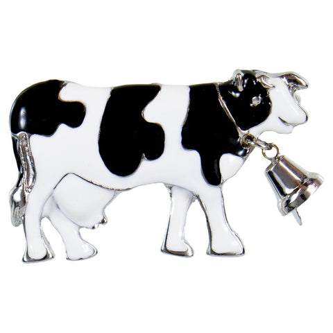 Cow Body With Bell Tack Pin