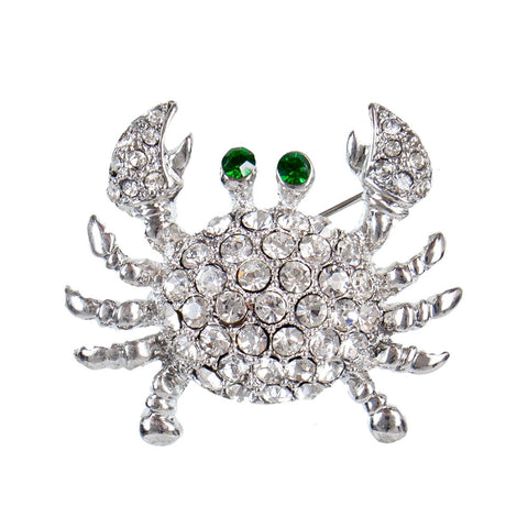 Crab Gemmed Body Tack Pin