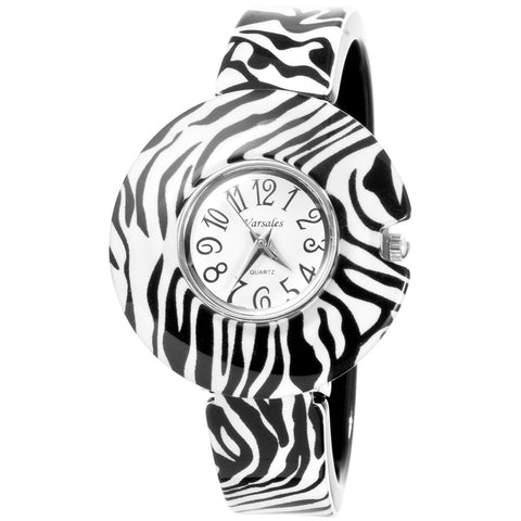 Zebra Stripes Cuff Bracelet Watch