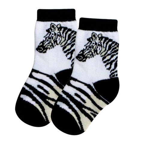 Zebra Head & Stripe Juvy Socks