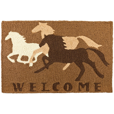 Horse Running Welcome Floor Mat