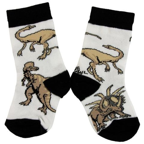 Dinosaurs Walking In Grass Juvy Socks