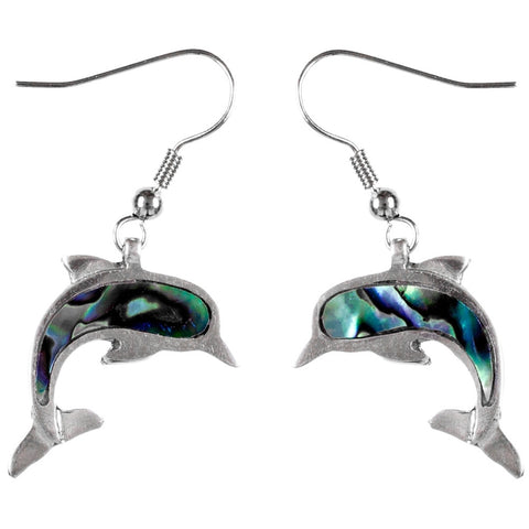 Dolphin Wild Pearle Body Dangle Earrings