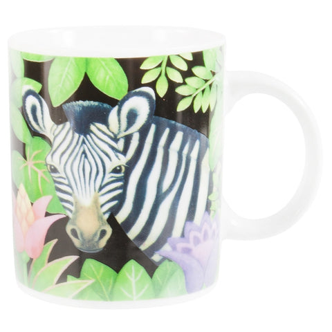 Zebra In Jungle Coffee Mug