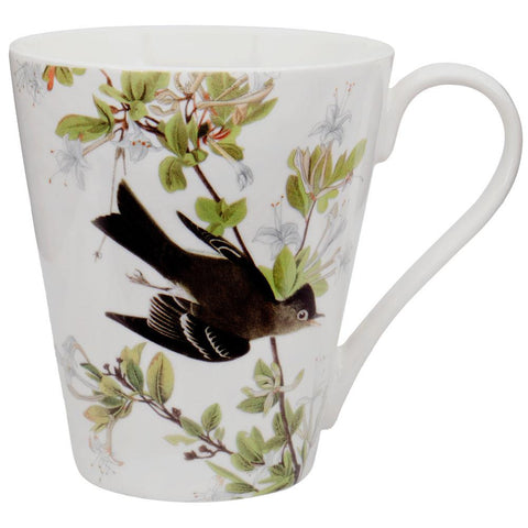 Western Wood Pewee Flying In Branches Coffee Mug