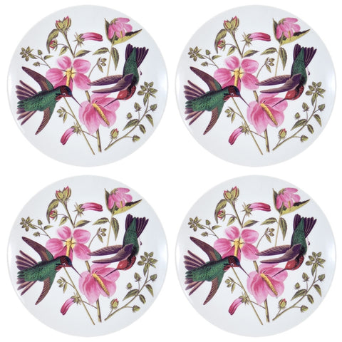 Colombian Hummingbirds In Flowers Set of Four Dessert Plates