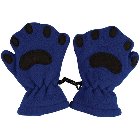 Bear Hands Blue Toddler Mittens