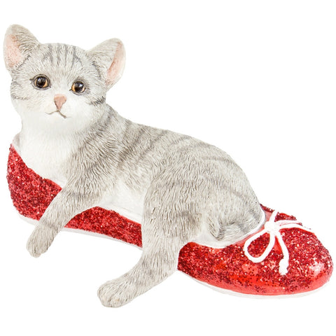 Kitten Ruby In Red Slipper Figurine