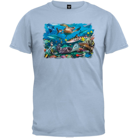 Wonders Of The Sea Light Blue T-Shirt