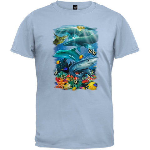 Ocean View Light Blue T-Shirt