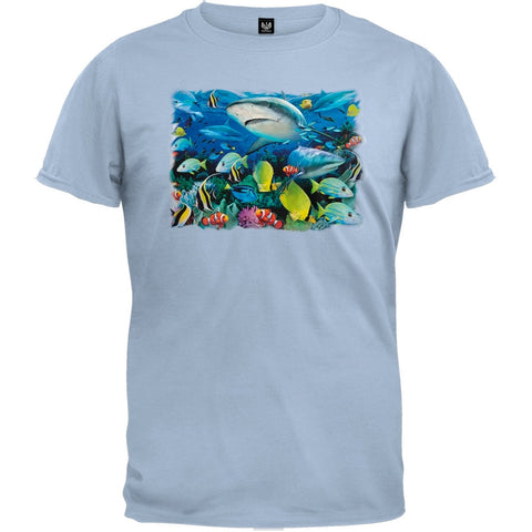 Reef Sharks 3D Light Blue T-Shirt