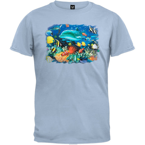 Dolphins 3D Light Blue T-Shirt