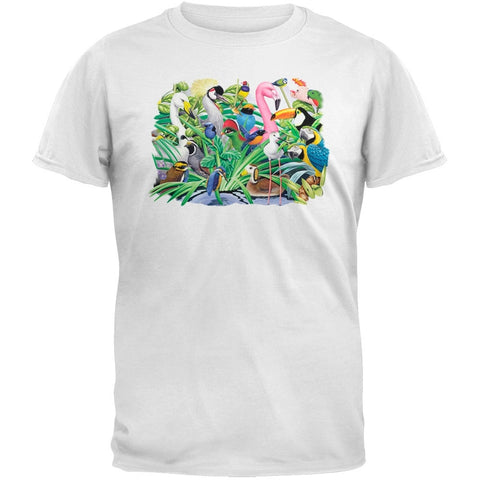 Solar Trans - Animal Magic Birds Landscape White T-Shirt