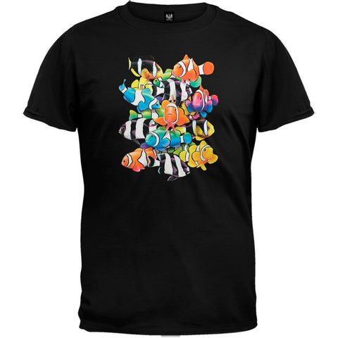 Humbugs And Clowns Black T-Shirt