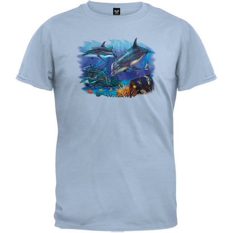 Two Dolphins Light Blue T-Shirt