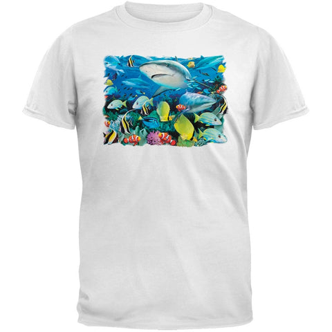 Solar Trans - Reef Sharks 3D  White T-Shirt
