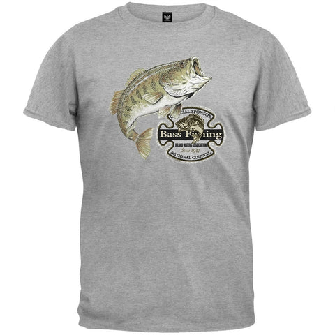 Bass Fishing Official Sponsor Heather Gray T-Shirt