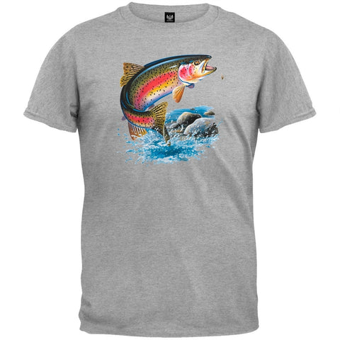 Rainbow Trout Heather Gray T-Shirt