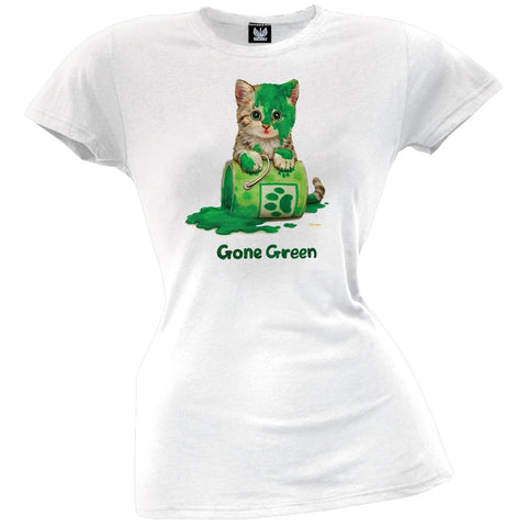 Solar Trans - Gone Green Juniors T-Shirt