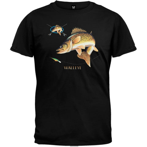 Walleye Combination Black T-Shirt