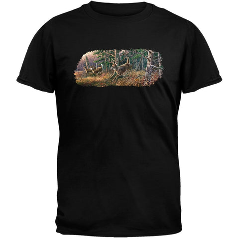 3DT - Leaps and Bounds Black T-Shirt