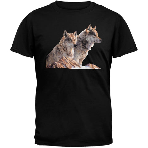 3DT - Two Wolves Black T-Shirt