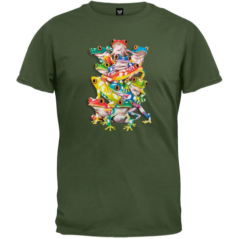 3DT - Balancing Act Olive Green T-Shirt