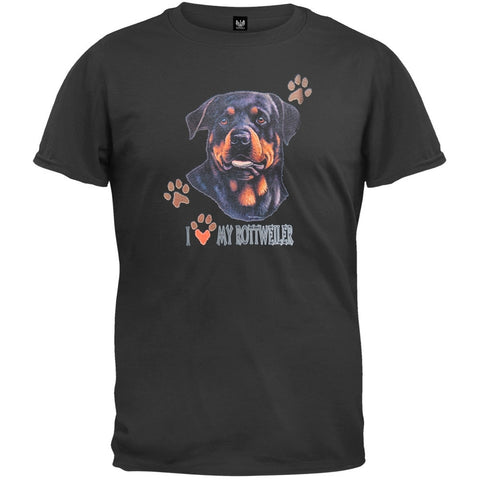 I Paw My Rottweiler Black T-Shirt