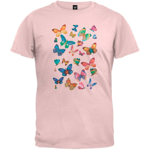 Butterfly Fun Cut-Up Light Pink T-Shirt