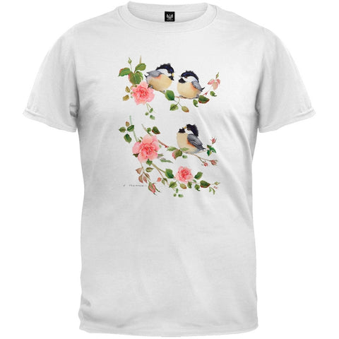 Chicks and Roses White T-Shirt