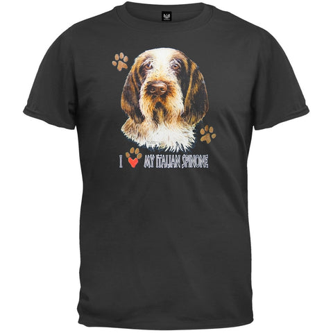 I Paw My Italian Spinone Black T-Shirt