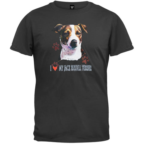 I Paw My Jack Russell Terrier Black T-Shirt