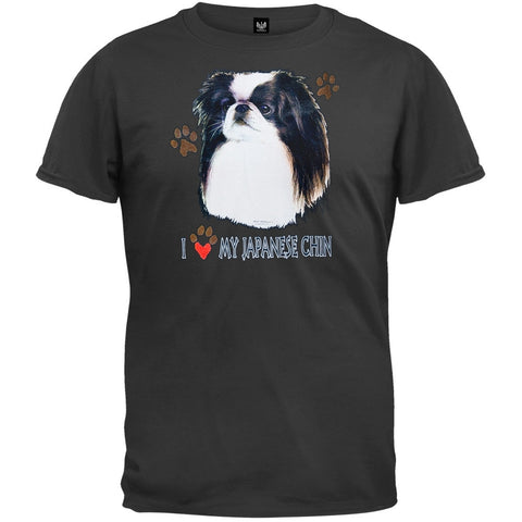 I Paw My Japanese Chin Black T-Shirt
