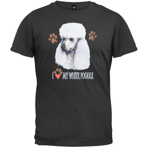 I Paw My White Poodle Black T-Shirt